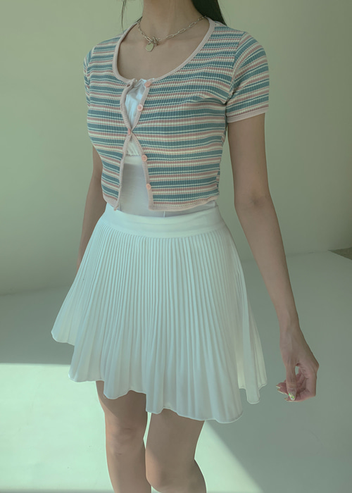 ANNA PLEATS MINI SKIRT(IVORY, BEIGE, PINK, SKY BLUE, BLACK 5COLORS!)