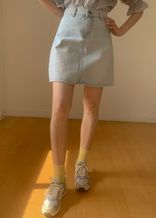 90'S DENIM A-LINE SKIRT(LIGHT WASH, MEDIUM WASH, DARK WASH, BLACK WASH 4COLORS!)