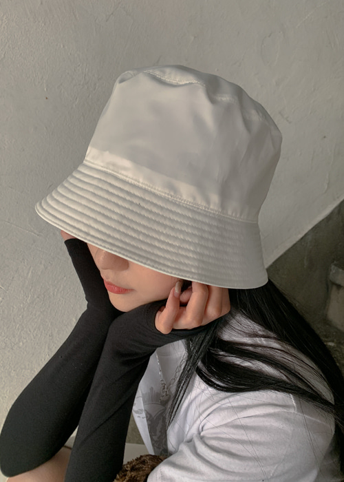 NYLON BASIC BUCKET HAT(WHITE, BEIGE, BLACK 3COLORS!)