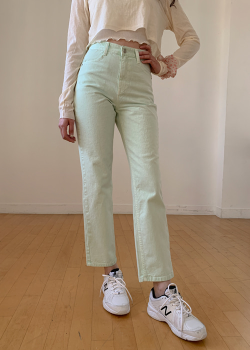PASTEL COTTON STRAIGHT PANTS(BEIGE, YELLOW, PINK, MINT 4COLORS!)