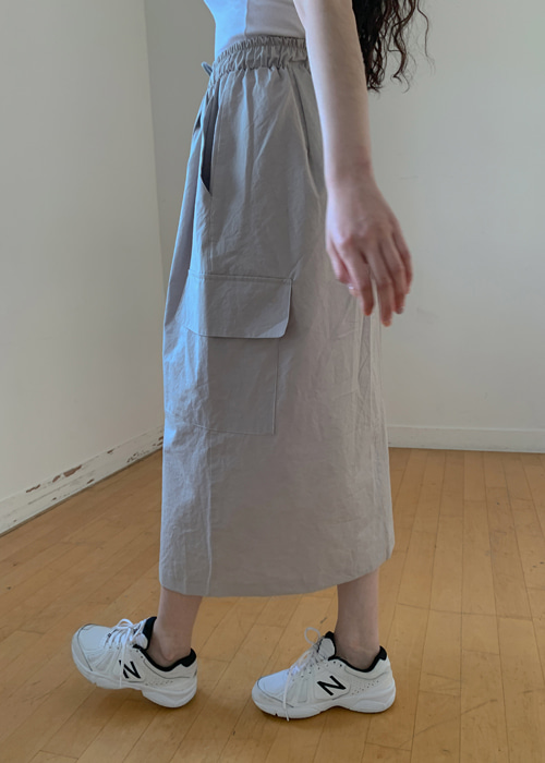 HARDTACK LONG SKIRT(WHITE, KHAKI, GREY, BLACK 4COLORS!)