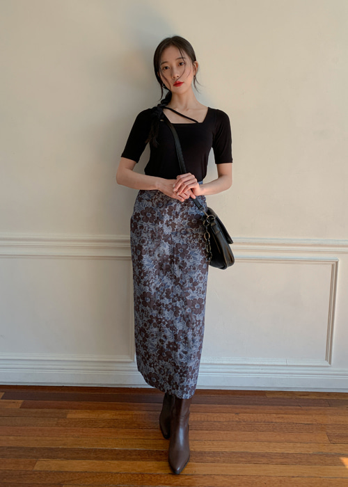 BLUE ROSE MOSS LONG SKIRT