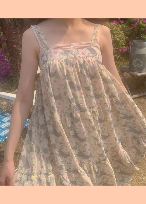 PASTEL DANDELION SLIP DRESS