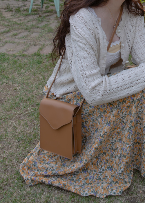VERA SQUARE BAG(CAMEL, BLACK 2COLORS!)