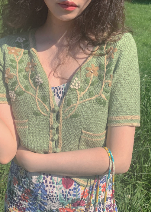 FLOWER CROCHET CARDIGAN(BEIGE,KHAKI 2COLORS!)
