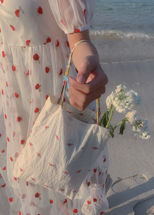 VINTAGE FLORET EMBROIDERY BAG