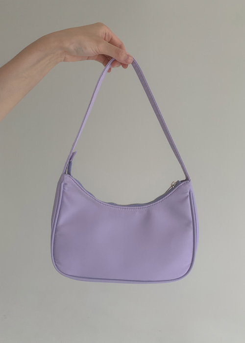 VIVID NYLON SHOULDER BAG(LIGHT GREEN, SKYBLUE, LIGHT PURPLE, BLACK 4COLORS!)