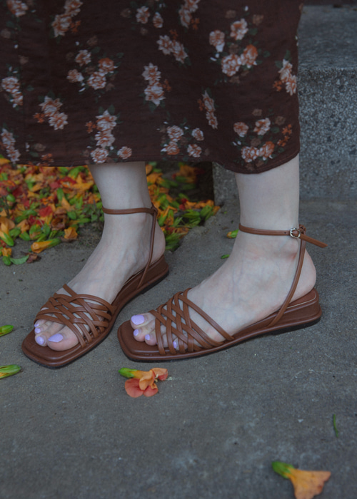 VINTAGE STRAP SANDAL(BEIGE, BROWN, BLACK 3COLORS!)