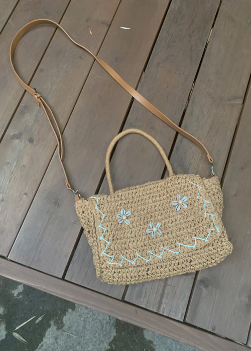 ETHNIC VINTAGE FLORAL BAG(BEIGE, BROWN 2COLORS!)