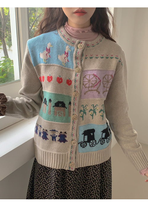 CARRIAGE VINTAGE KNIT CARDIGAN