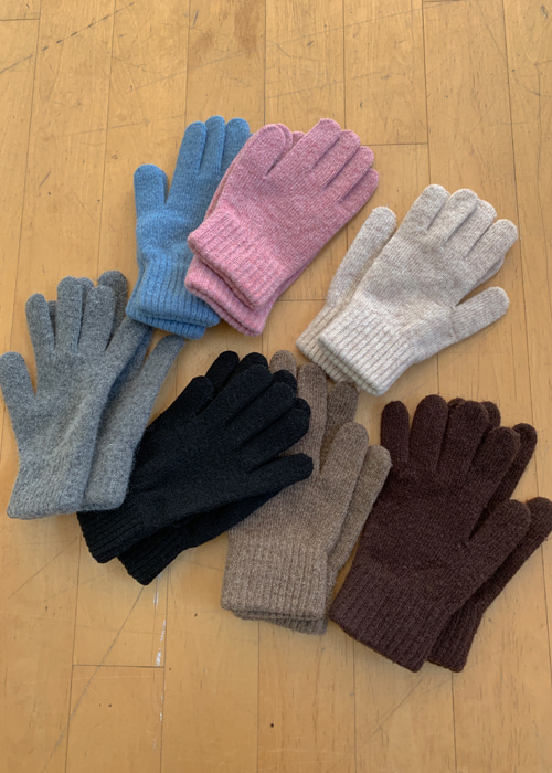 SOFT WARM GLOVES(IVORY, MOCHA, BROWN, PINK, SKYBLUE, GREY, BLACK 7COLORS!)