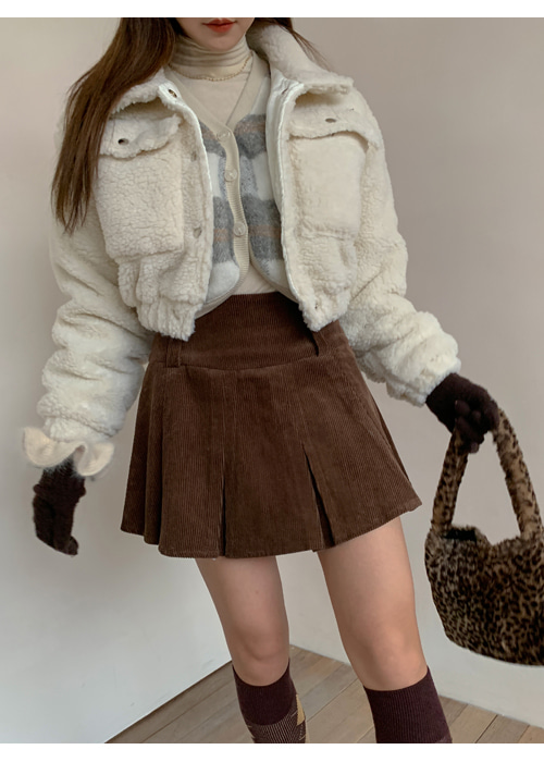 DUMBLE CROP JACKET(IVORY, BROWN 2COLORS!)