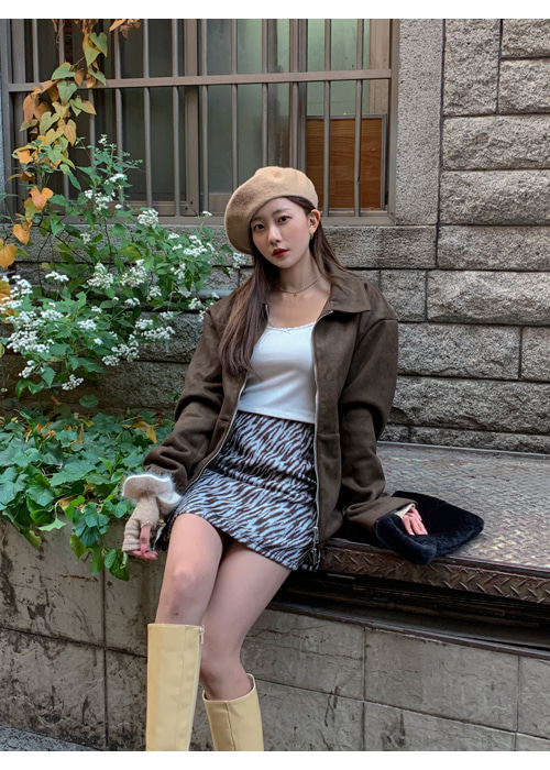 SUEDE BOYFRIEND FIT JACKET(BEIGE, KHAKI, BROWN, BLACK 4COLORS!)