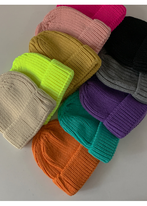 COLOR KNIT BEANIE(10COLORS!)