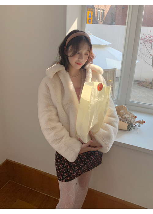 SOFT WARM FUR JACKET(IVORY, SKYBLUE 2COLORS!)