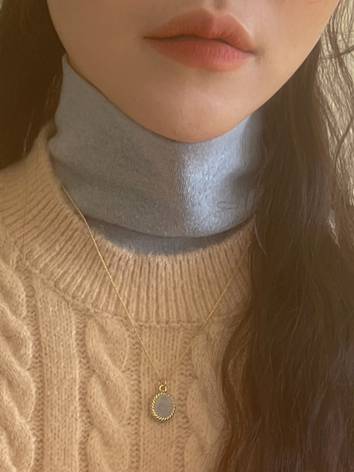 ANGORA HIGHNECK LONG SLEEVE T(IVORY, OATMEAL, SKYBLUE, MOCHA, BLACK 5COLORS!)