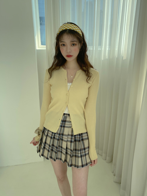 DAILY SLIM BUTTON CARDIGAN(IVORY, BEIGE, YELLOW, SKYBLUE, PINK, GREEN, PURPLE, BROWN, BLACK 9COLORS!)