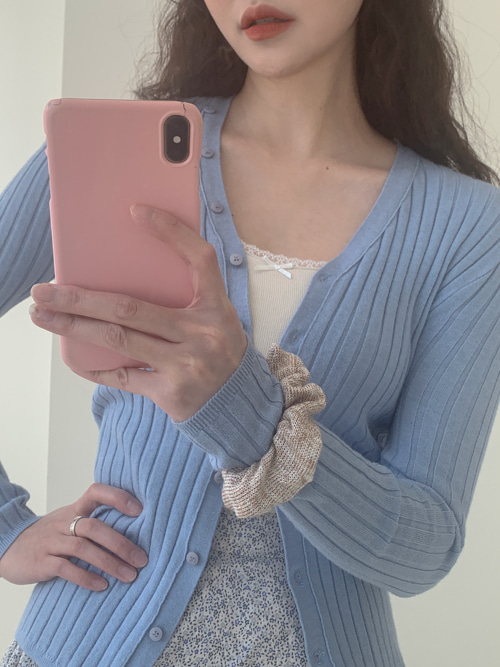 BUTTER SLIM BUTTON CARDIGAN(OATMEAL, SKYBLUE, GREY, BLACK 4COLORS!)