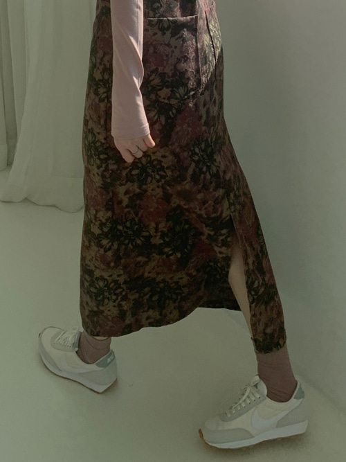 BLACK ROSE H-LINE SKIRT(BROWN, BLACK 2COLORS!)