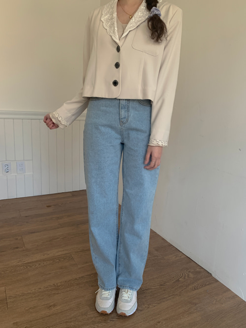 90'S LIGHT WASH STRAIGHT DENIM PANTS