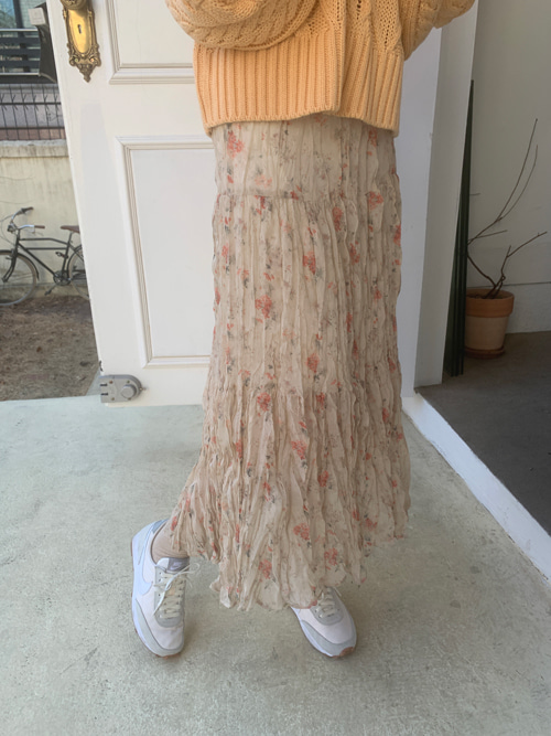 LILY ROSE PLEATS SKIRT(BEIGE, BLACK 2COLORS!)