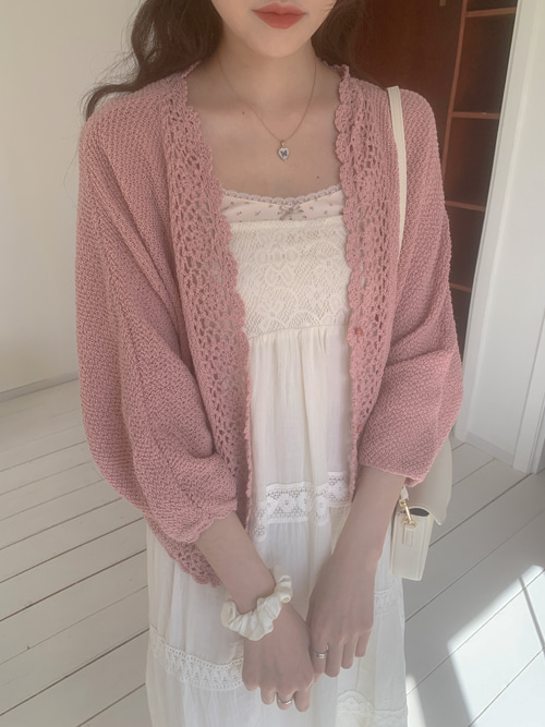 ELLA VINTAGE LOOSE KNIT CARDIGAN(IVORY, MINT, PINK 3COLORS!)