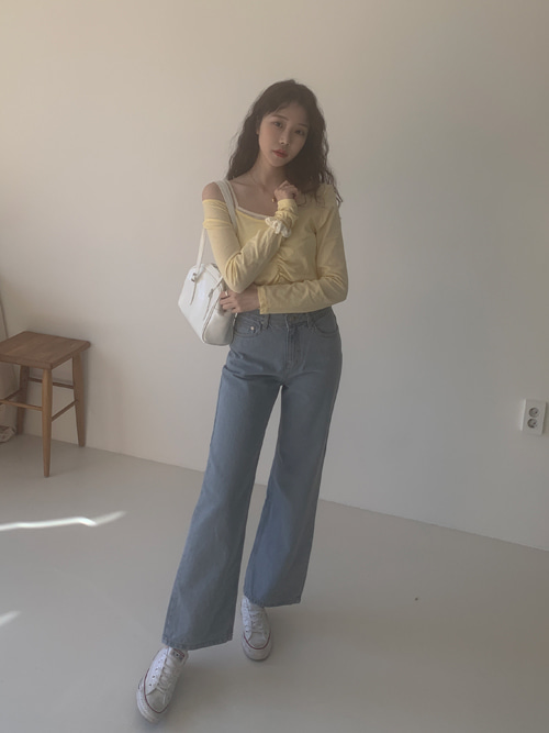 90'S VINTAGE WASHED WIDE PANTS