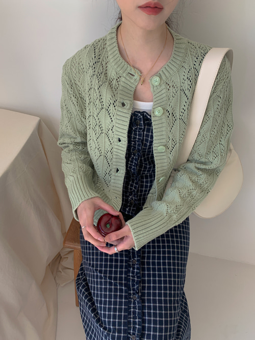 SPRING PUNCHING LOOSE CARDIGAN(BEIGE, MINT, SKYBLUE, BLACK 4COLORS!)
