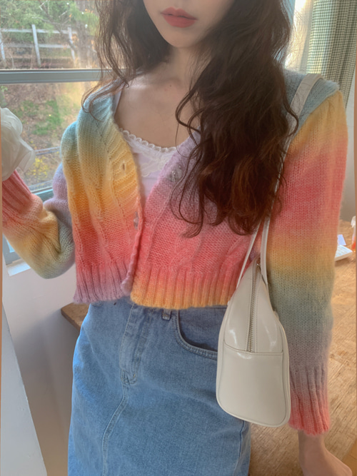 RAINBOW CANDY KNIT CARDIGAN